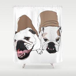 English Bulldogs Shower Curtain