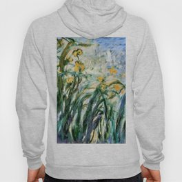 "Claude Monet ""Yellow Irises and Malva"", 1914 - 1917 Hoody"