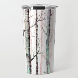 Birch Trees Forest Travel Mug