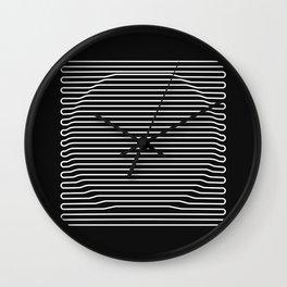 Circle over black Wall Clock