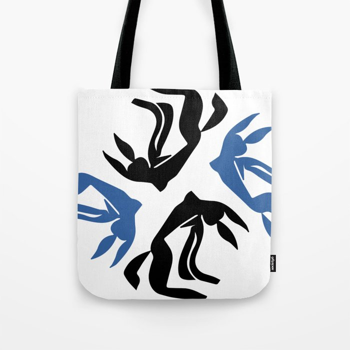 Girl with flowing hair jumping for joy Tote Bag