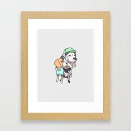Dog Squad Goals Framed Art Print