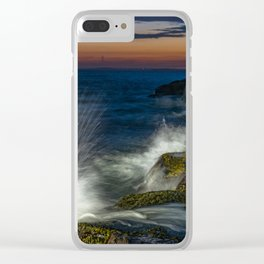 Peggys cove sunset Clear iPhone Case
