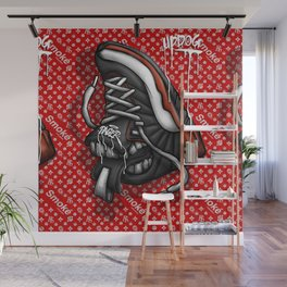 Sneaker Smoké Red Royal Stain Wall Mural