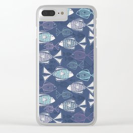 Here, Fishy Fishy Clear iPhone Case