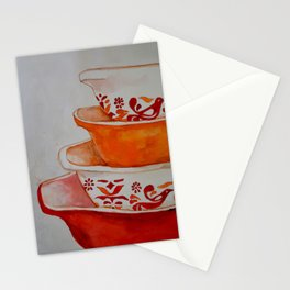 Friendship and Americana Vintage Orange Pyrex Stationery Cards