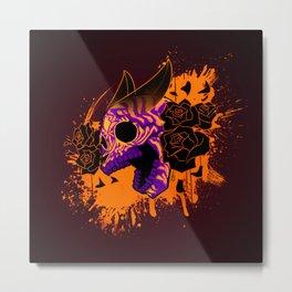Skull 'n' Roses (NightmareNetty-Colored) Metal Print