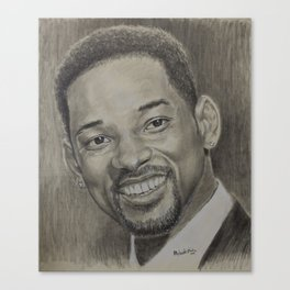 Will Smith pencil portrait. Canvas Print