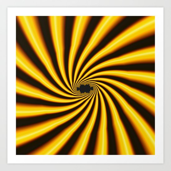 Twisted Sunshine Art Print