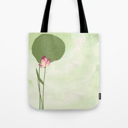 Survive like a lotus flower, rising from the muc Tote Bag