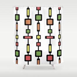 Mid Century Squares Art Shower Curtain