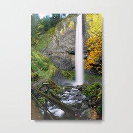 Bridge Over Rocky Waters Metal Print