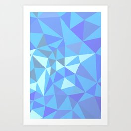 Blue compsition with tiangles Art Print