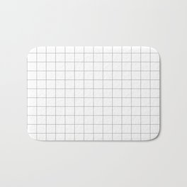 grey white grid Bath Mat