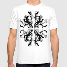 Pattern 6 Mens Fitted Tee SMALL White