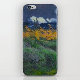 Louis Patru - Landscape - 1895-1905 Wheat Field blowing Wind Storm Clouds iPhone Skin