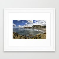 agnes Framed Art Prints featuring St Agnes by Mark Nelson