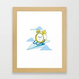 Times Flies Framed Art Print