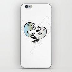 Fish love iPhone & iPod Skin