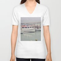 boats V-neck T-shirts featuring boats by studiomarshallarts
