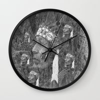 indian Wall Clocks featuring Indian by  Agostino Lo Coco