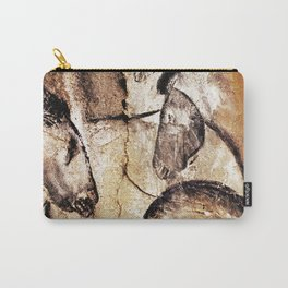 Facing Horses // Chauvet Cave Art Carry-All Pouch