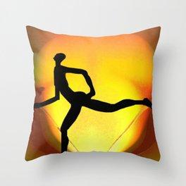Sprinting Man Throw Pillow