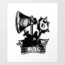 Love and weapons, Custom gift design Art Print