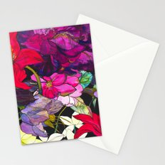 Black Parrot Tulips Stationery Cards