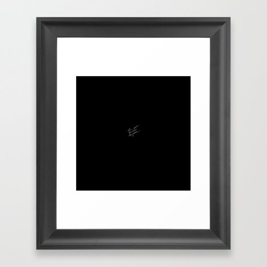 The Secret Framed Art Print