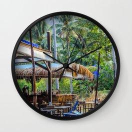 Thailand Tiki Bar Wall Clock