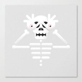 Skeleton / Pale Man Canvas Print