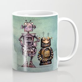 Two Kid's Robots Coffee Mug