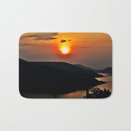 Sunset and the river Bath Mat