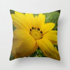 yellow feeling Throw Pillow