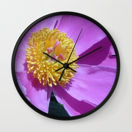 Pink and Yellow Flower Wall Clock