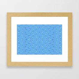 Blue wave pattern Framed Art Print