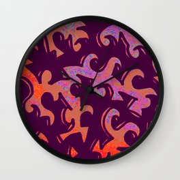 Pixel Squiggle Wall Clock