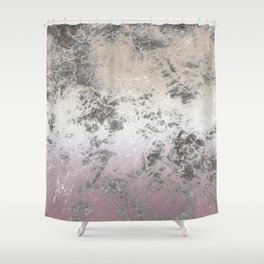 Pink and grey abstract pattern Shower Curtain