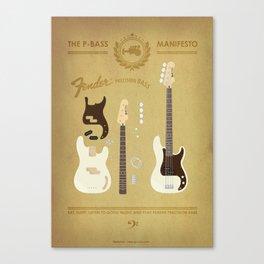 The P-Bass Manifesto Canvas Print