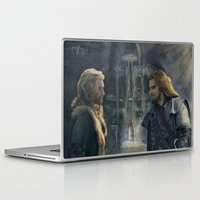 fili Laptop & iPad Skins featuring Fili and Kili by PrintsofErebor