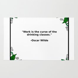 Brews & Hues: a Quote from Oscar Wilde (Portrait) Rug