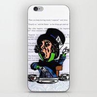 mad hatter iPhone & iPod Skins featuring Mad Hatter by VanBof