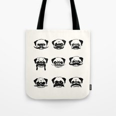 Moustaches of The Pug Tote Bag