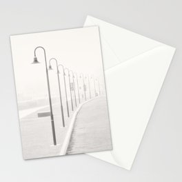 The street lamps in the dock of Senigallia, Italy Stationery Cards