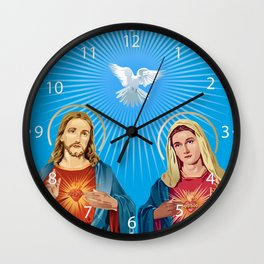 Jesus Christ and the Virgin Mary Wall Clock