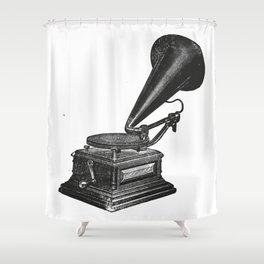 Gramophone 2 Shower Curtain