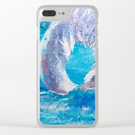 Titan of Waves Clear iPhone Case