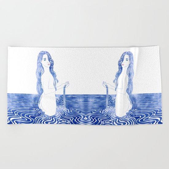 Water Nymph LXIII Beach Towel