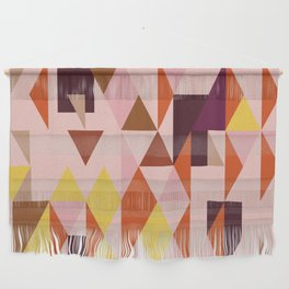 Vintage triangles vibe Wall Hanging